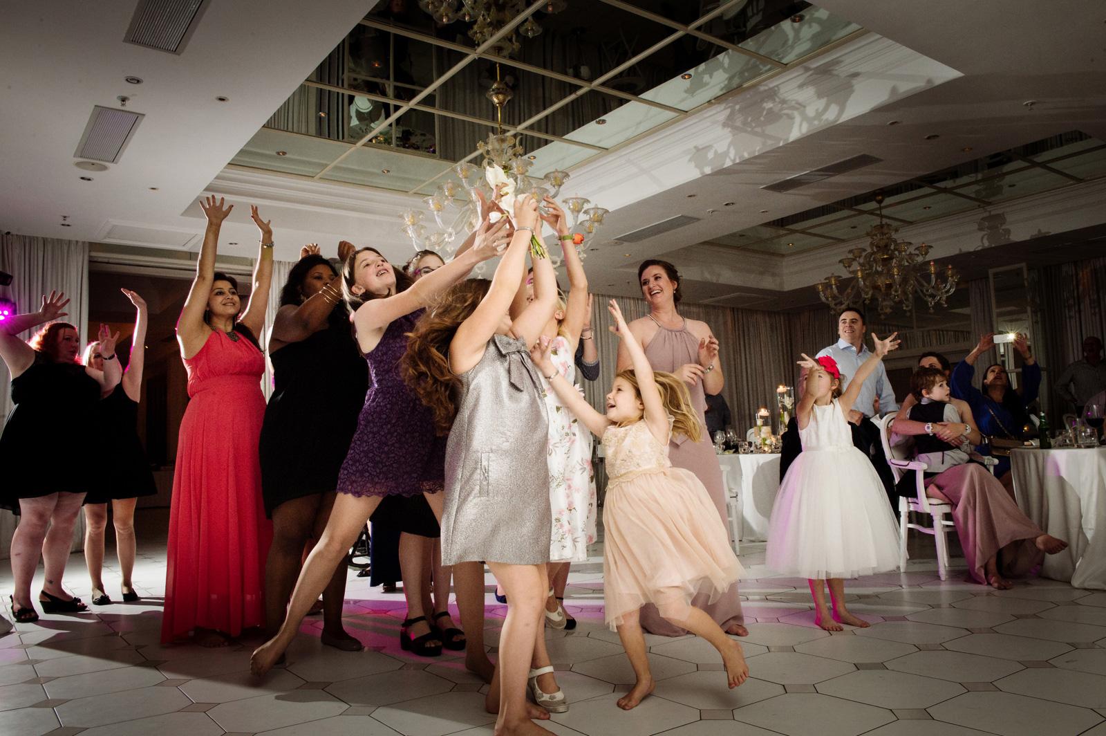 Children bouquet toss