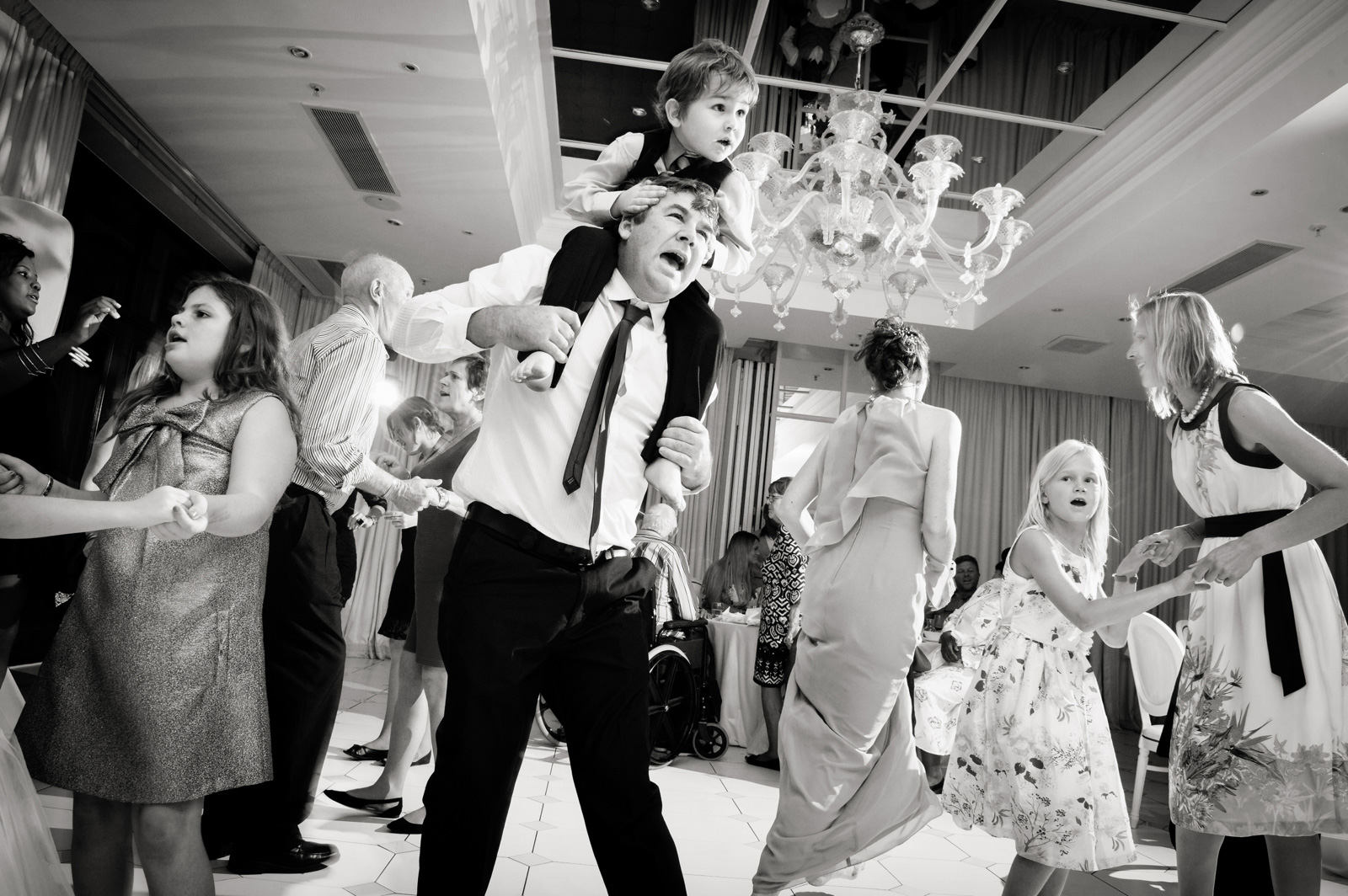 Crazy children at wedding