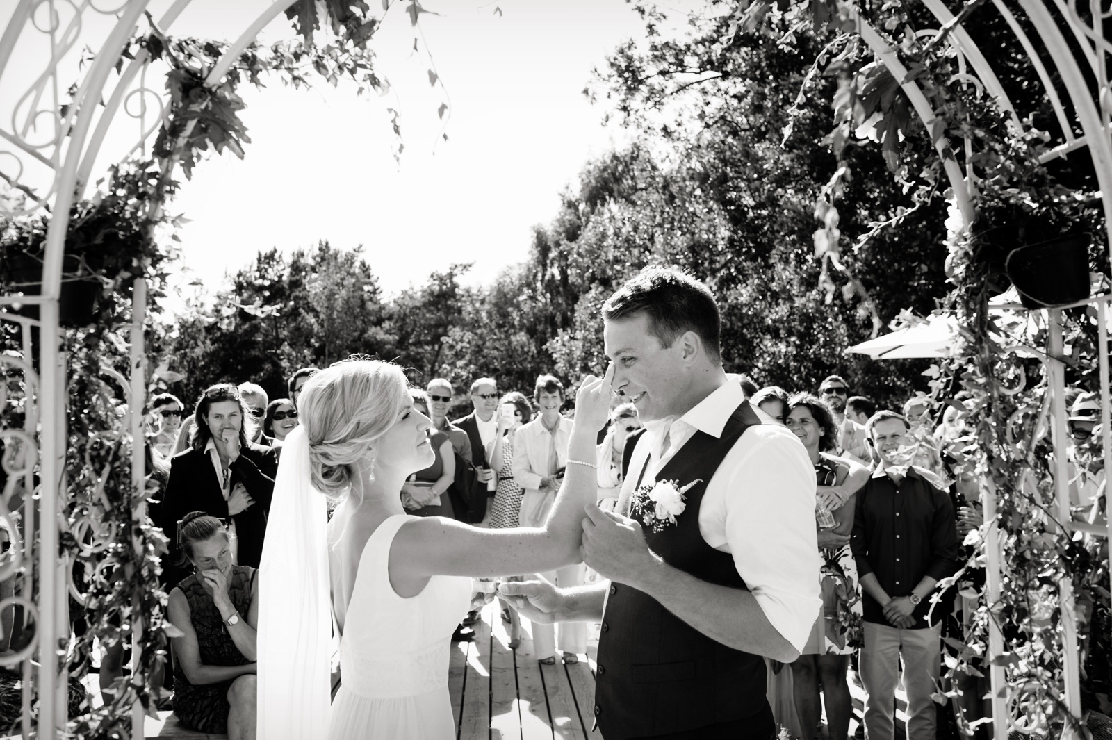 Touching wedding