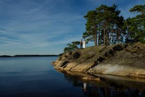 Finnhamn Island bride and groom
