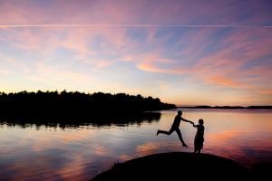 Swedish sunset couple