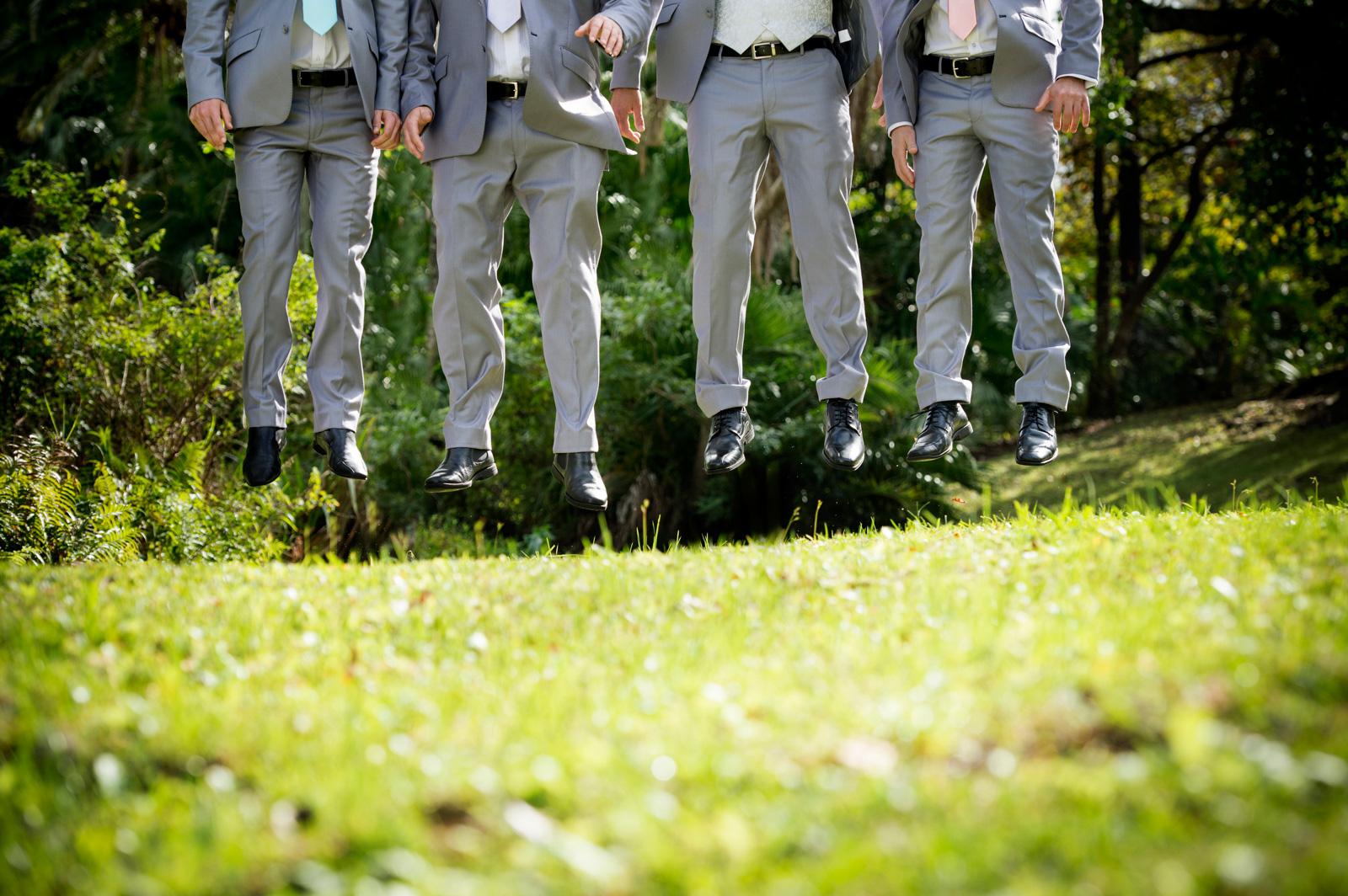 Men jumping