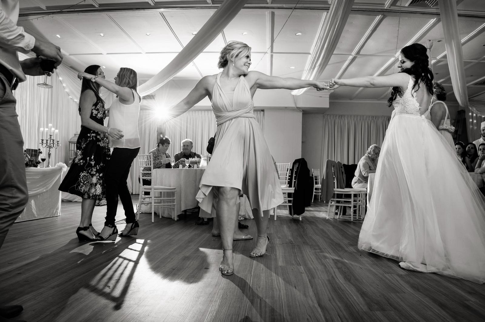 girls dance at wedding