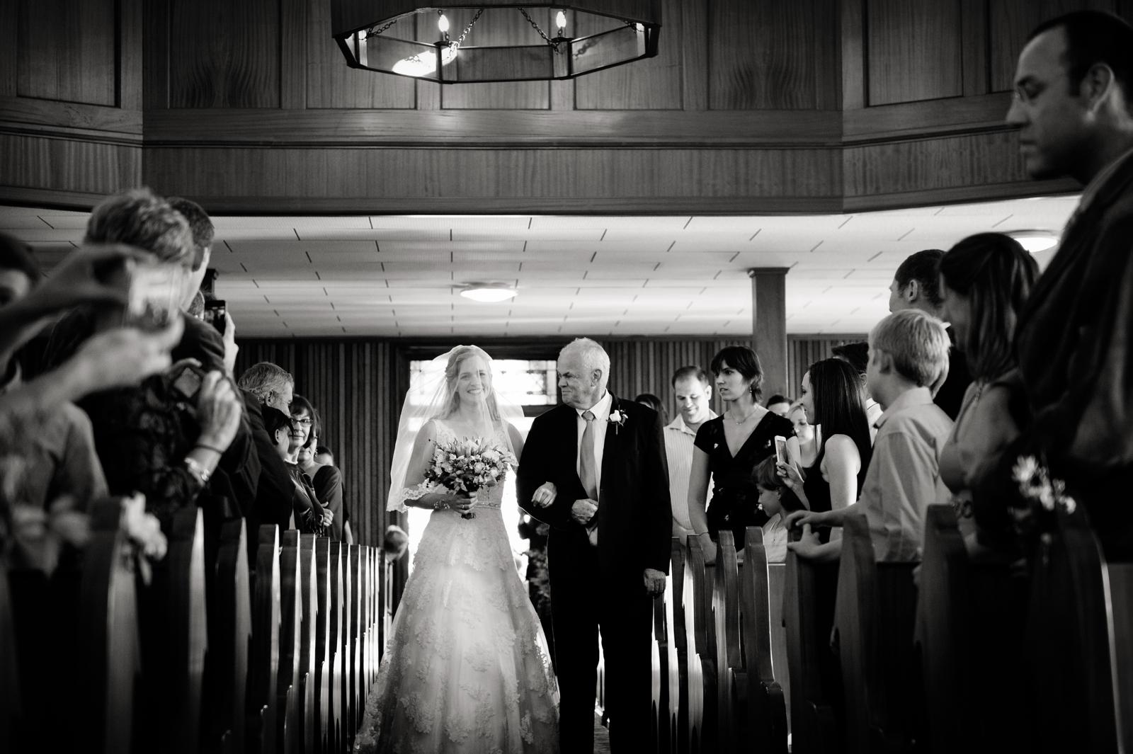 german bride down the aisle