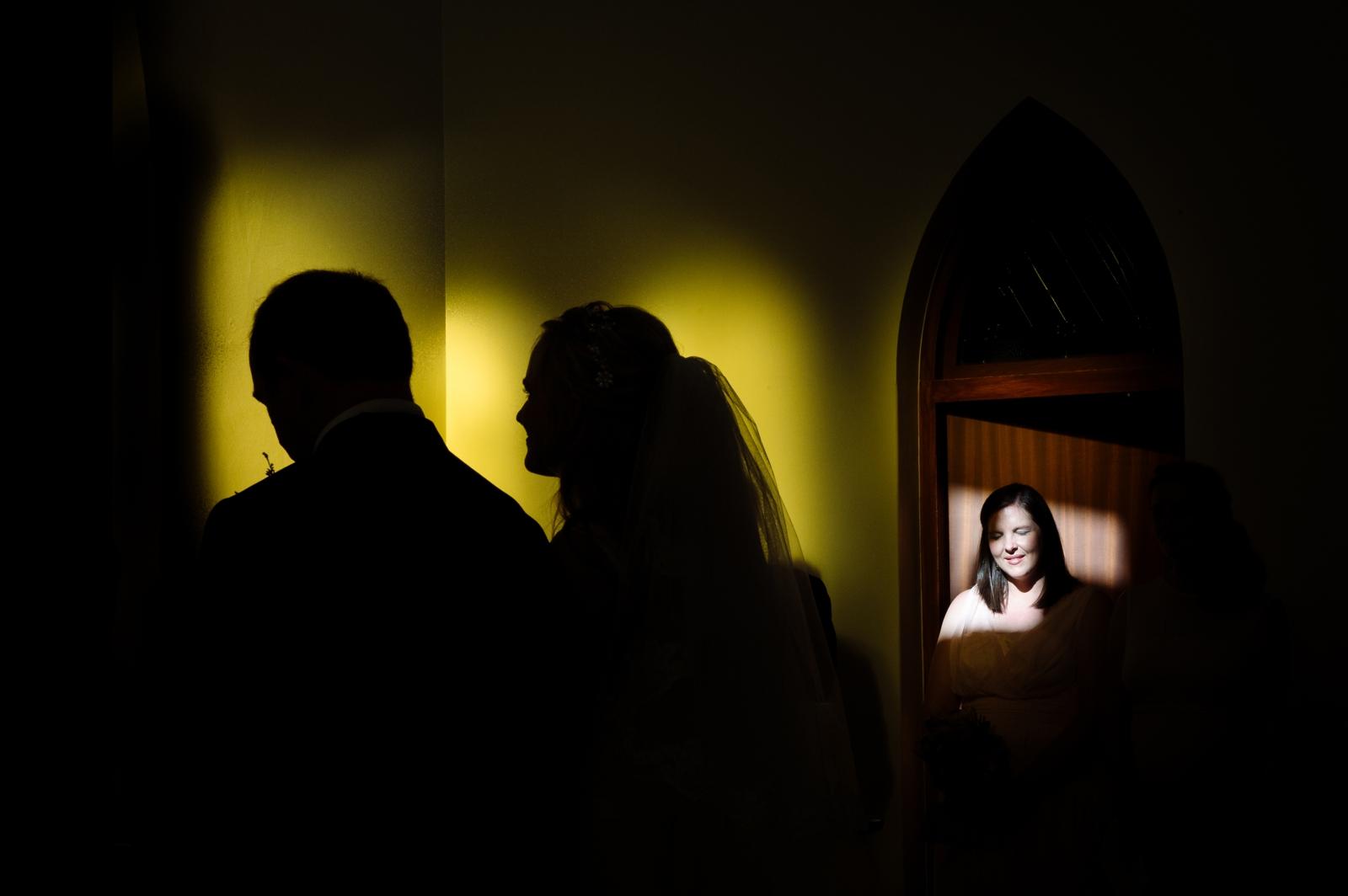 wedding church silhouette