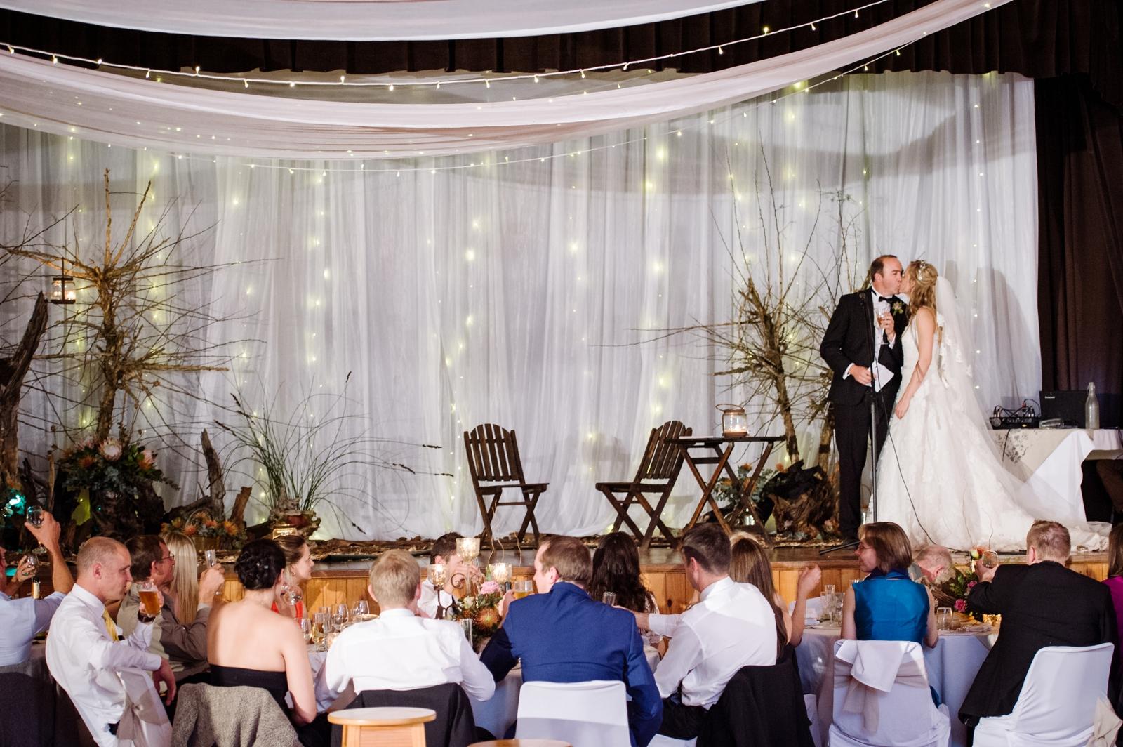 bride and groom kiss speech