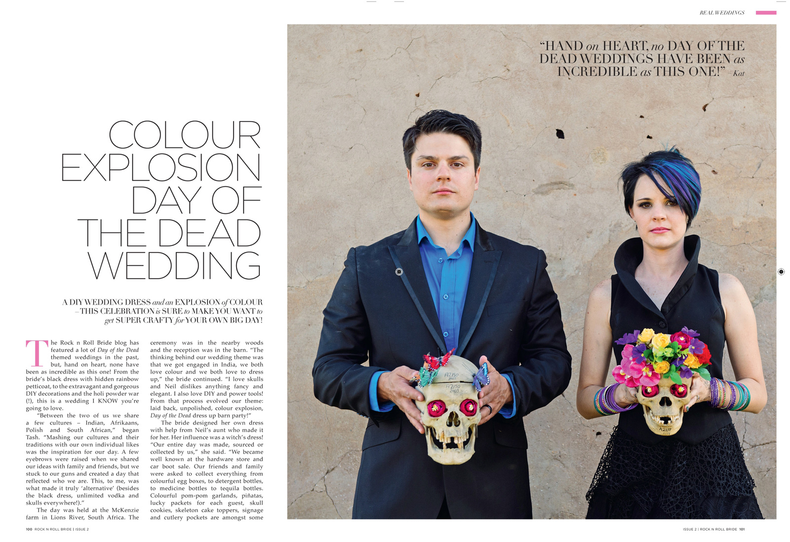 Skull candy wedding