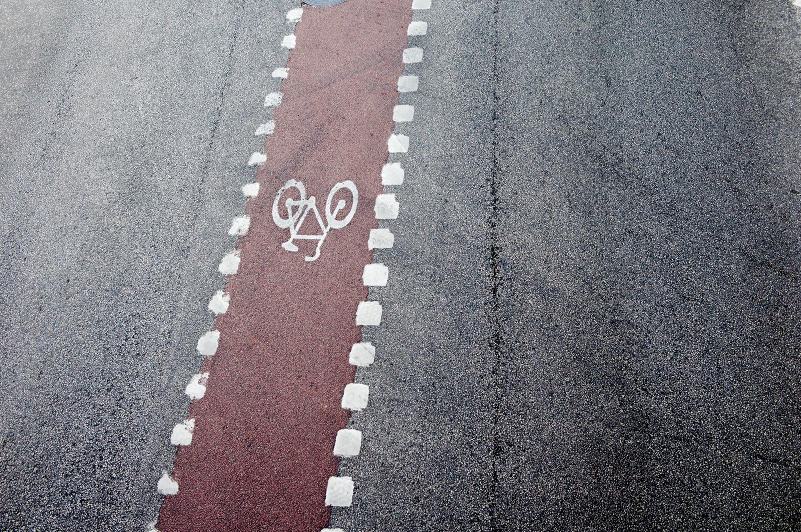 Swedish cycle lane