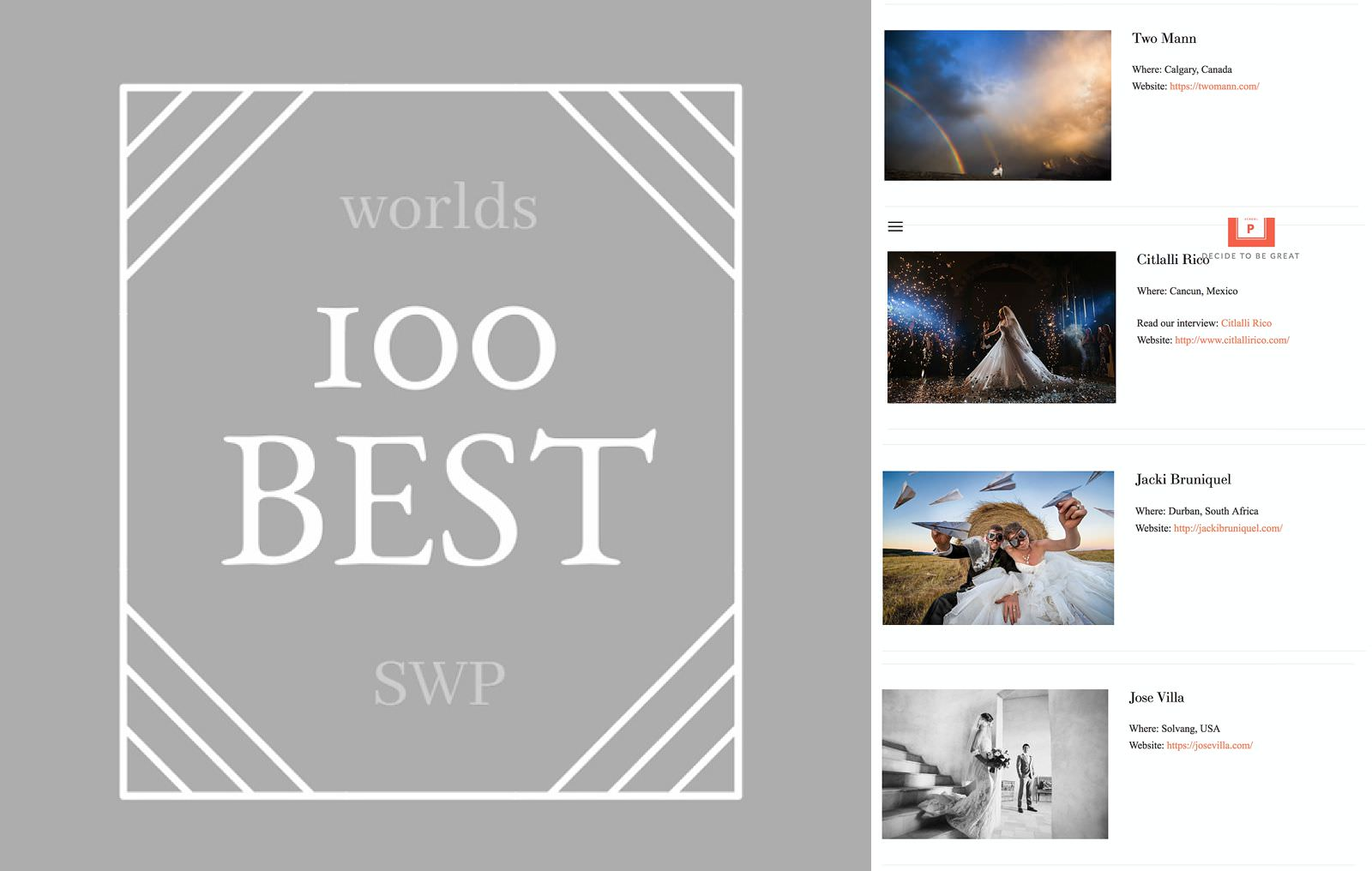 100 best wedding photographers in the world Jacki Bruniquel