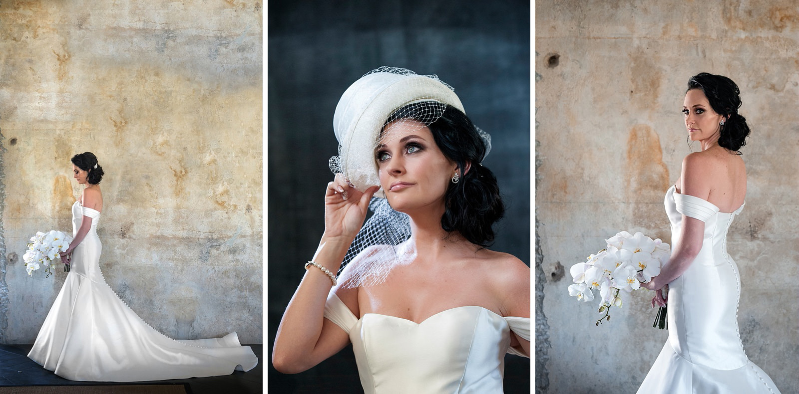 Beautiful and creative bridal portraits by Jacki Bruniquel