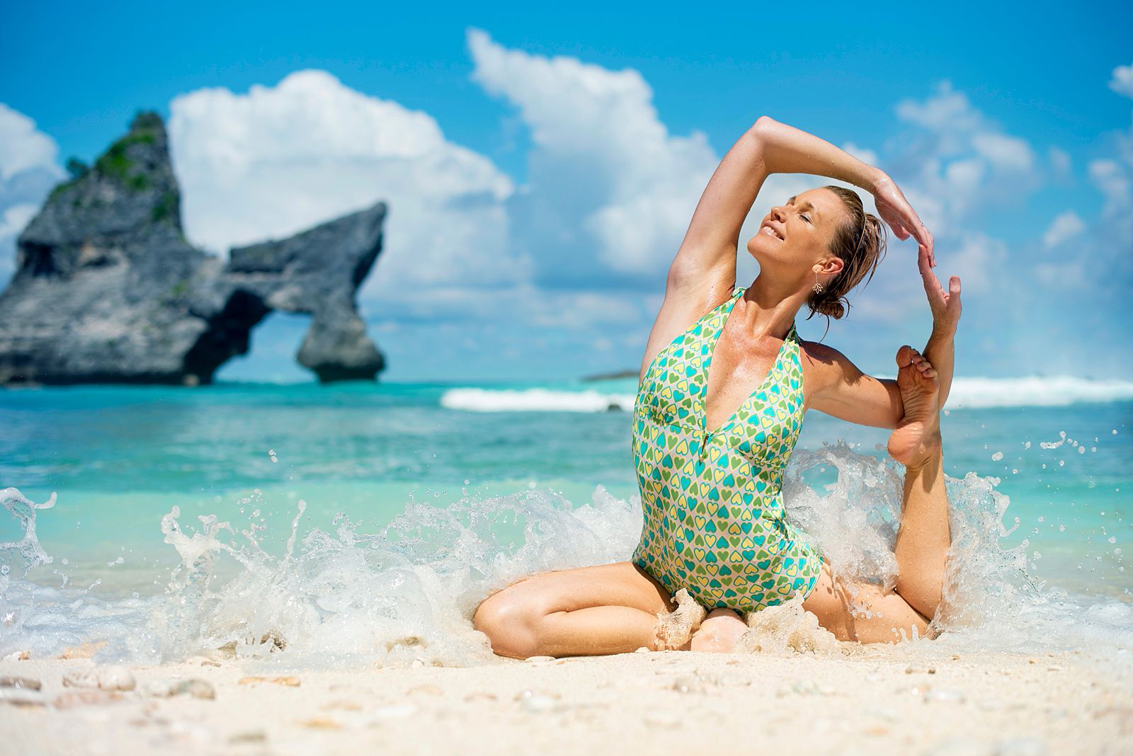 Creative Yoga Branding shoot on Nusa Penida Island in Bali