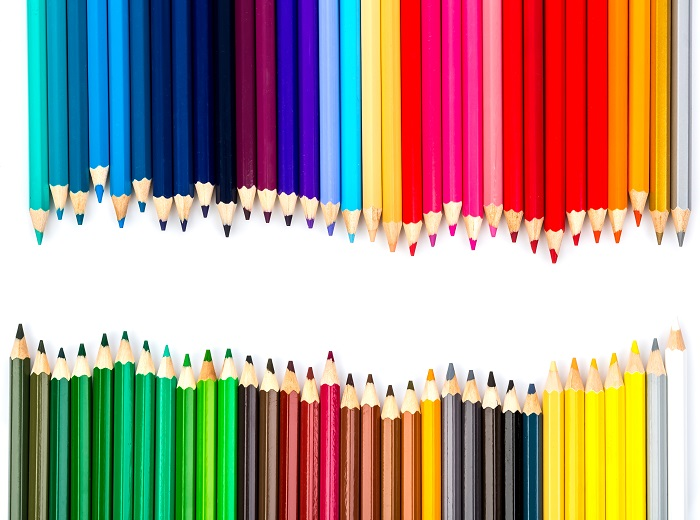 Lápis de cor material escolar