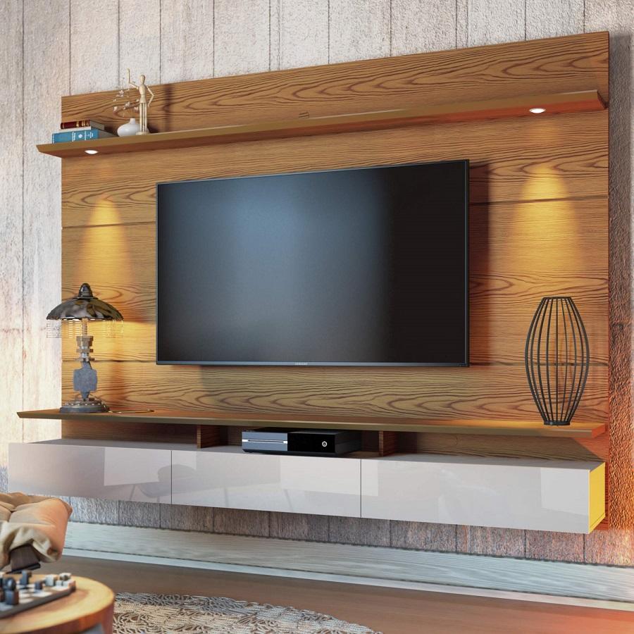 Painel de tv com led sala