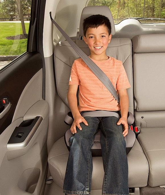 Criança booster ou assento de elevação no carro