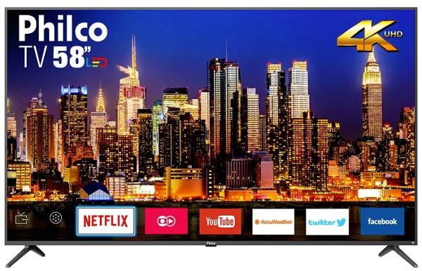 """Smart TV LED 58"""" Philco 4K PTV58F60SN"""