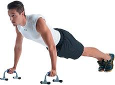apoio para flexão exercício em casa