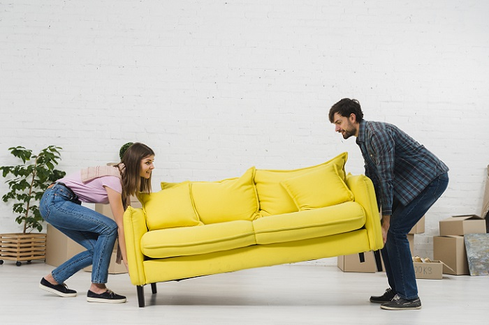 mudar o sofá