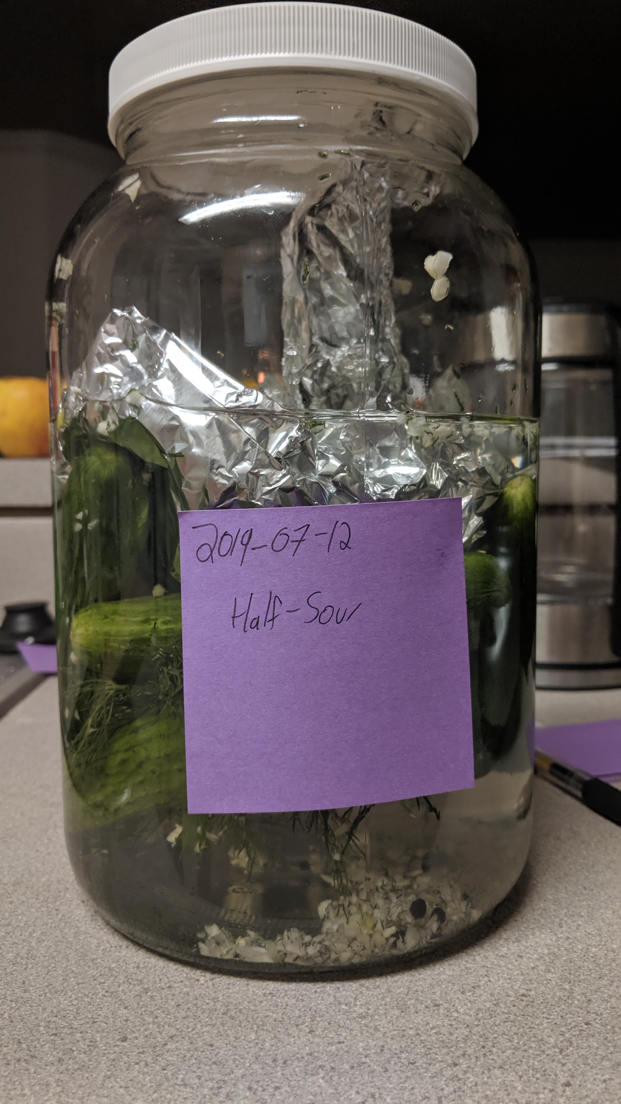 Half-sour Pickles