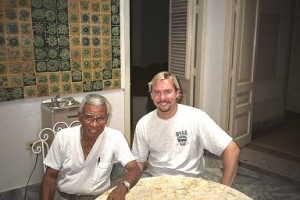 With el maestro Richard Egües in Havana