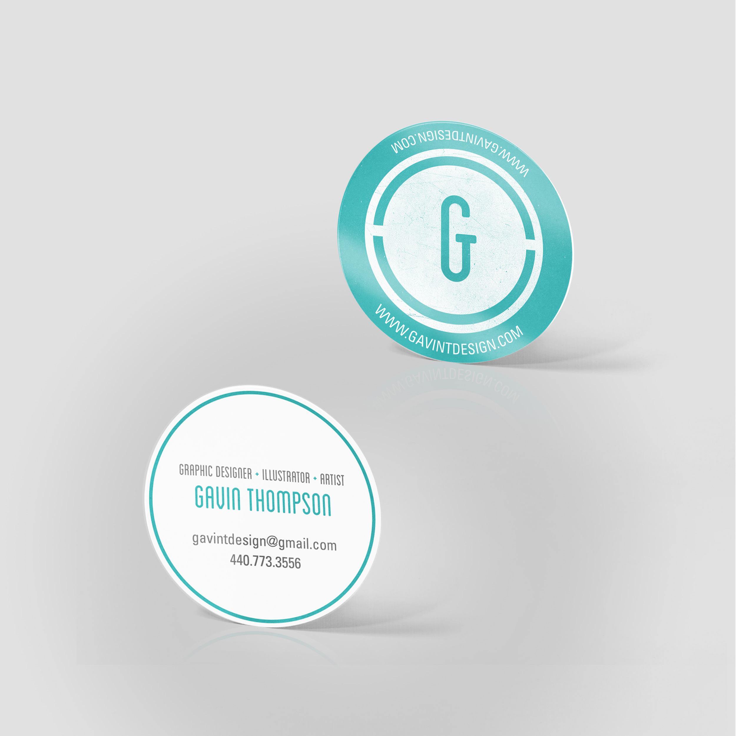 2quot circle business cards jakprints inc for Circle business card template