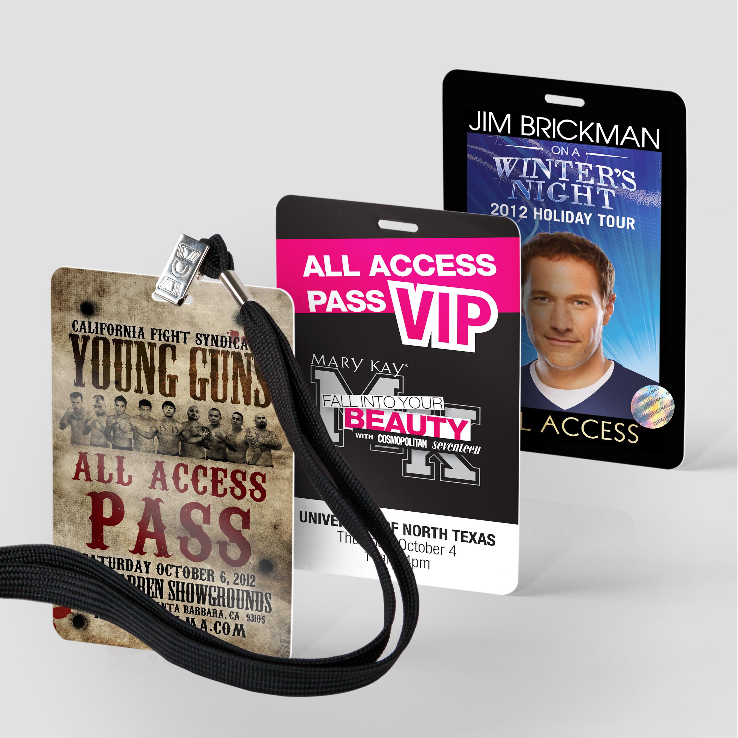 Custom Vip Passes Tour Laminates And Vip Cards