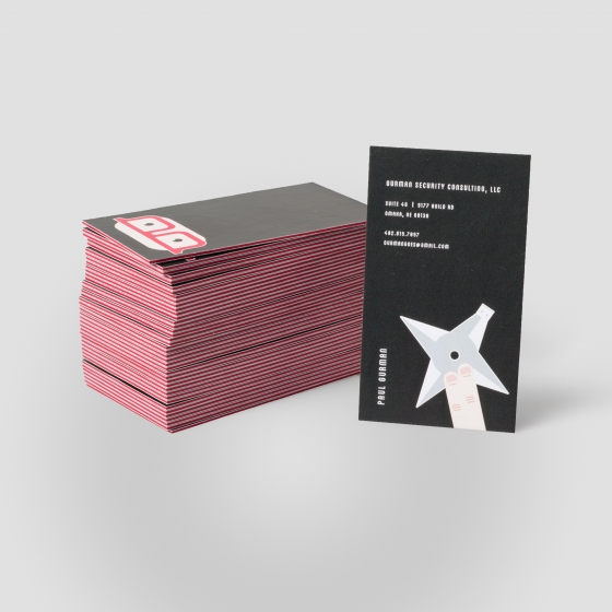 color core business cards gloss