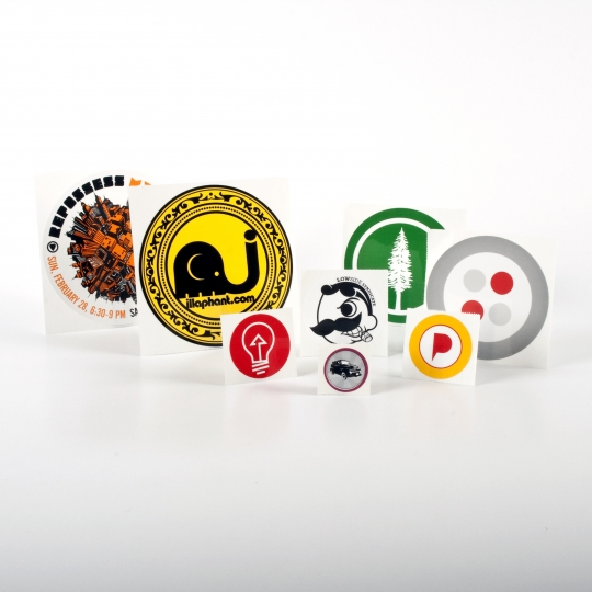 Round Vinyl Stickers - Roll Labels