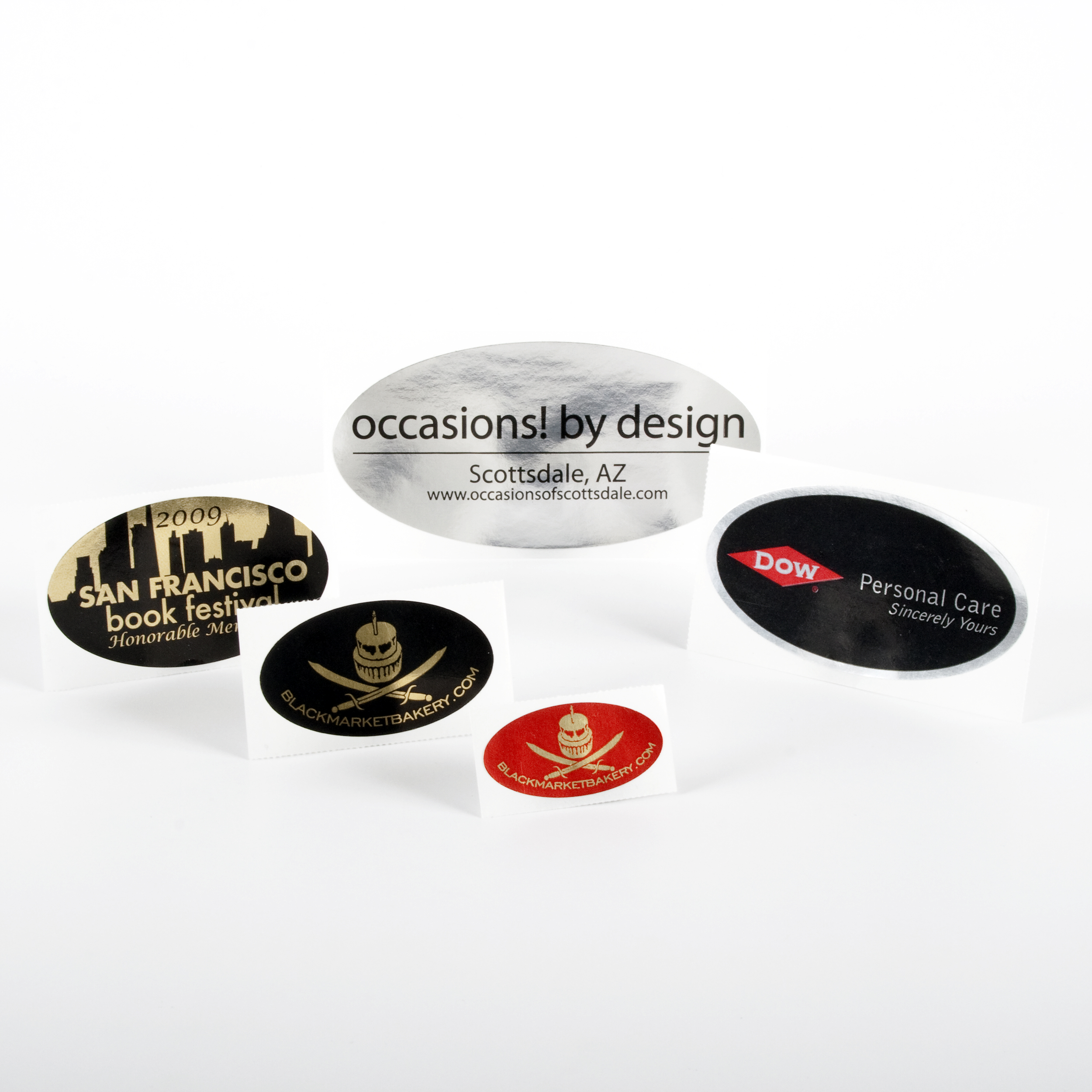 Oval Foil Stickers - Roll Labels