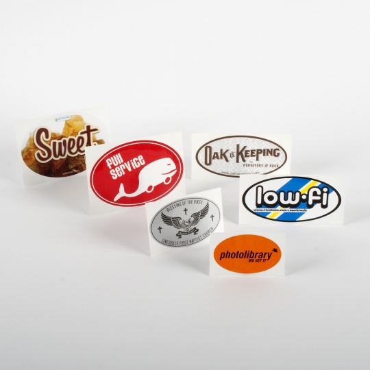 Oval Vinyl Stickers - Roll Labels