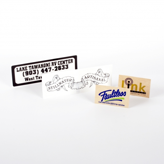 Rectangle Clear Stickers - Roll Labels