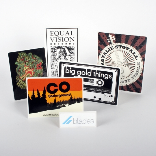 Rectangle Vinyl Stickers - Roll Labels