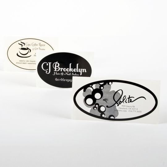 Oval Paper Sticker - Roll Labels