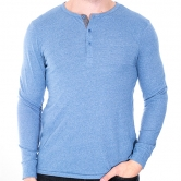 Basic Eco-Mock Twist Henley Shirt