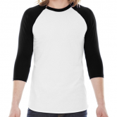 Unisex Poly-Cotton 3/4 Sleeve Raglan Shirt - Made in USA