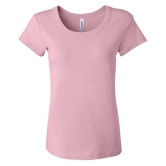 S/S Baby Rib Scoop Neck T-Shirt