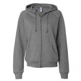 Fleece Raglan Zip-Up Hooded Sweatshirt