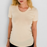 Sheer Jersey Short Sleeve Summer T-Shirt