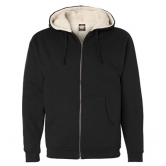 Sherpa Lined Zip Hooded Sweatshirt