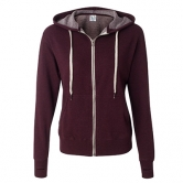 Heather French Terry Zip Hooded Sweatshirt