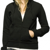 Juniors' Raw Edge Fitted Zip Hooded Sweatshirt