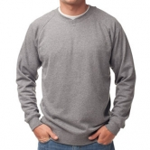 Heather French Terry V-Neck Pullover