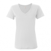 Sheer V-Neck T-Shirt