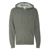 Light Weight Zip Hooded Sweatshirt