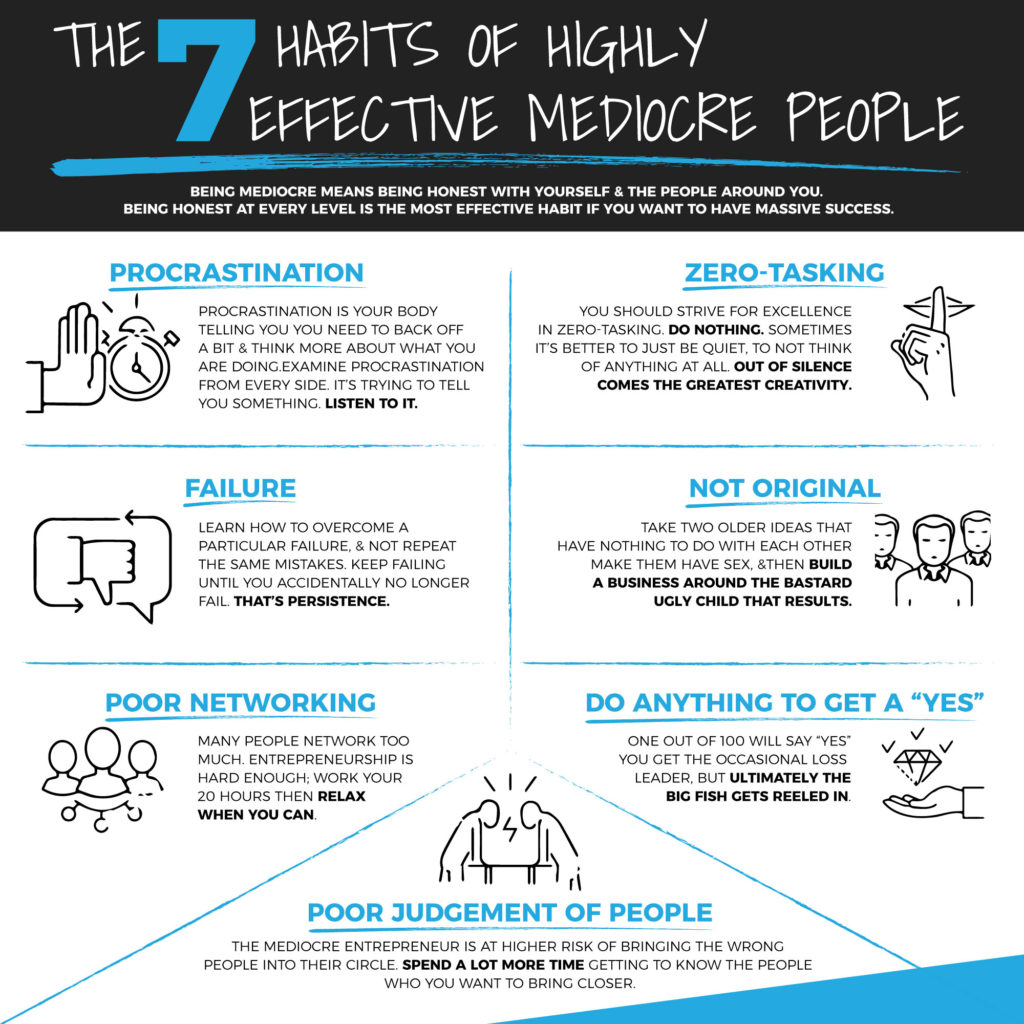 7 Habits Of Highly Effective Mediocre People