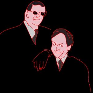 Penn and Teller drawing
