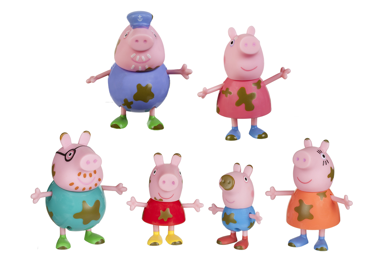 Peppa Pig Muddy Puddles Family