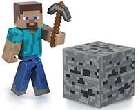 Steve w/Iron Pickaxe & Coal Ore Block