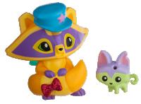 Posh Raccoon and Pet Kitty