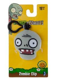 Zombie Head Plush Clip
