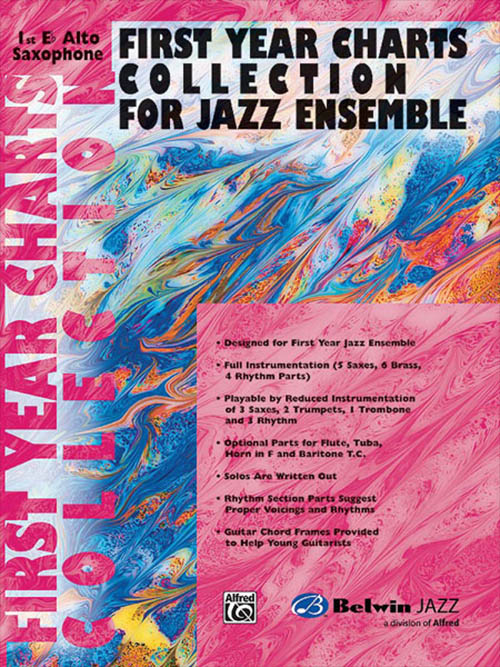 First Year Charts Collection for Jazz Ensemble: 1st E Flat Alto Saxophone